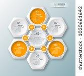 vector abstract 3d paper... | Shutterstock .eps vector #1020661642