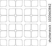 seamless vector pattern in... | Shutterstock .eps vector #1020663862