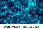 bitcoin symbol blockchain... | Shutterstock . vector #1020669565