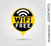 free wifi mark. vector...   Shutterstock .eps vector #1020679072