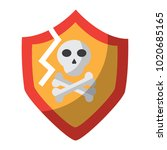 antivirus shield icon image  | Shutterstock .eps vector #1020685165