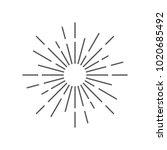 vintage sunburst design vector... | Shutterstock .eps vector #1020685492