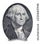 Small photo of Save Download Preview Portrait of first U.S. president George Washington as he looks on one dollar bill obverse. Clipping path included.