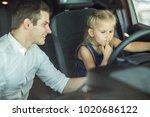 adorable little girl and her...   Shutterstock . vector #1020686122