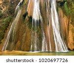 cola de caballo waterfall. cola ... | Shutterstock . vector #1020697726