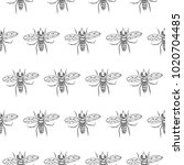 fly seamless vector pattern | Shutterstock .eps vector #1020704485