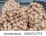 small round issan sausages ...   Shutterstock . vector #1020711772