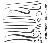 hand drawn black squiggle... | Shutterstock .eps vector #1020712585