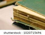 macro vintage old atlas book on ...   Shutterstock . vector #1020715696