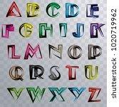 vector colorful a z alphabet.... | Shutterstock .eps vector #1020719962