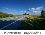 blank asphalt road in landscape ... | Shutterstock . vector #1020726946
