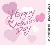 happy valentine day vector...   Shutterstock .eps vector #1020731815
