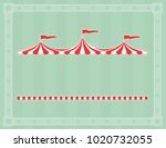 circus tent sign with copy...   Shutterstock .eps vector #1020732055