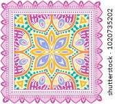 decorative colorful ornament on ... | Shutterstock .eps vector #1020735202