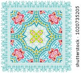 decorative colorful ornament on ... | Shutterstock .eps vector #1020735205