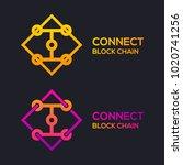 letter i colorful dots logo... | Shutterstock .eps vector #1020741256