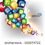 modern conceptual digital...   Shutterstock .eps vector #102074722