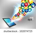 modern conceptual digital... | Shutterstock .eps vector #102074725