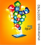 modern conceptual digital... | Shutterstock .eps vector #102074782
