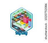 big city isometric real estate...   Shutterstock .eps vector #1020752086
