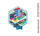 big city isometric real estate...   Shutterstock .eps vector #1020752092