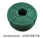 green rope on white background. | Shutterstock . vector #1020768718