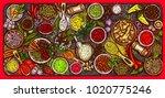 illustration of a variety of... | Shutterstock . vector #1020775246