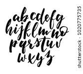 handwritten alphabet  script... | Shutterstock .eps vector #1020775735