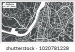 kolkata india city map in retro ... | Shutterstock . vector #1020781228