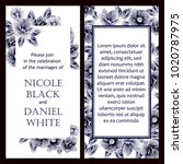 invitation with floral... | Shutterstock . vector #1020787975