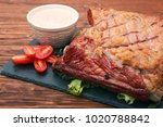delicious smoked beef ribs on... | Shutterstock . vector #1020788842