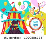 circus. the circus poster ... | Shutterstock .eps vector #1020806335