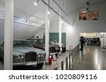 Small photo of TEHRAN, IRAN - 28 January 2018. The National Car Museum of Iran in Tehran displaying classic cars owned by the last Shah of the Pahlavi Dynasty, Mohammad Reza Shah.