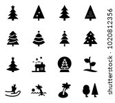 solid vector icon set  ... | Shutterstock .eps vector #1020812356