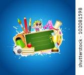 illustration of school... | Shutterstock .eps vector #102081598