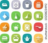flat vector icon set   iron... | Shutterstock .eps vector #1020823492