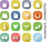 flat vector icon set   shopping ... | Shutterstock .eps vector #1020824752