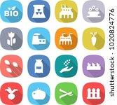 flat vector icon set   bio... | Shutterstock .eps vector #1020824776