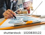 businessman hand working with ... | Shutterstock . vector #1020830122