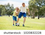 young happy father and excited... | Shutterstock . vector #1020832228