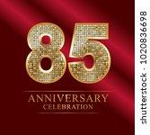 85 years anniversary... | Shutterstock .eps vector #1020836698