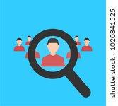 human resources. magnifier... | Shutterstock .eps vector #1020841525
