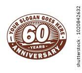 60 years anniversary....   Shutterstock .eps vector #1020842632