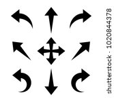 arrows icon vector | Shutterstock .eps vector #1020844378
