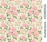 Pink Vintage Rose Pattern....