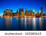 Night View Of Manhattan  New...