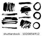 hand drawn scribble symbols... | Shutterstock .eps vector #1020856912