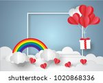 valentine's day concept.balloon ...   Shutterstock .eps vector #1020868336
