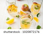 drinks and cocktails. white... | Shutterstock . vector #1020872176