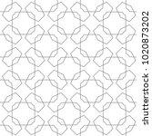 seamless geometric ornamental... | Shutterstock .eps vector #1020873202